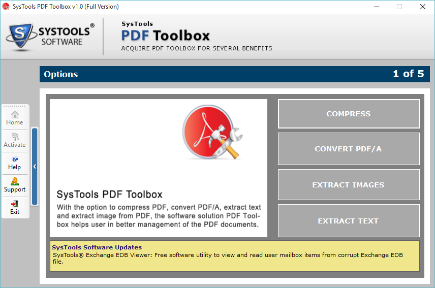 SysTools PDF ToolBox Screenshot