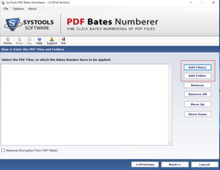 SysTools PDF Bates Numberer Screenshot 2