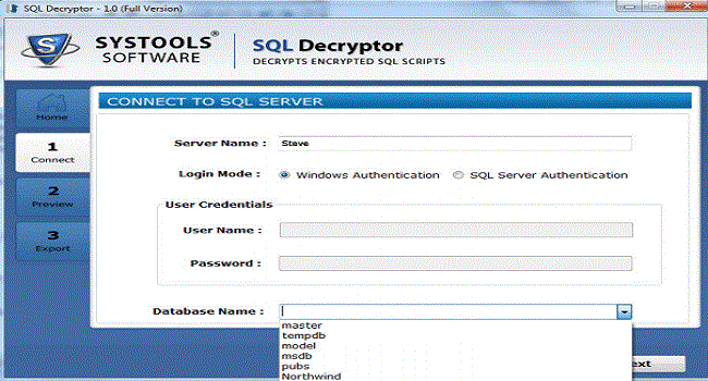 SysTools SQL Decryptor Screenshot 3