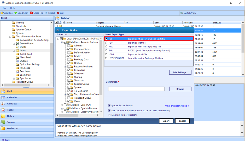 SysTools EDB to PST Converter Screenshot 4