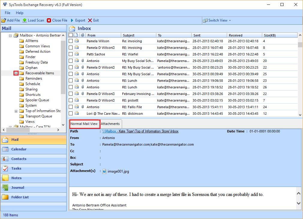 SysTools EDB to PST Converter Screenshot 3