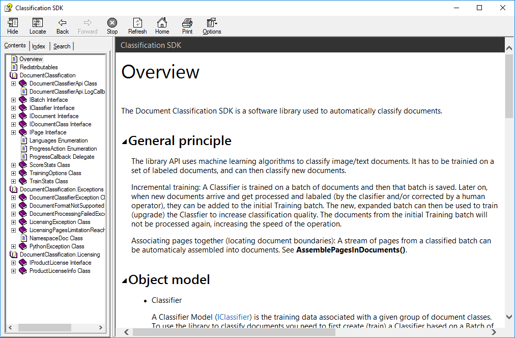 Document Classification SDK Screenshot 1