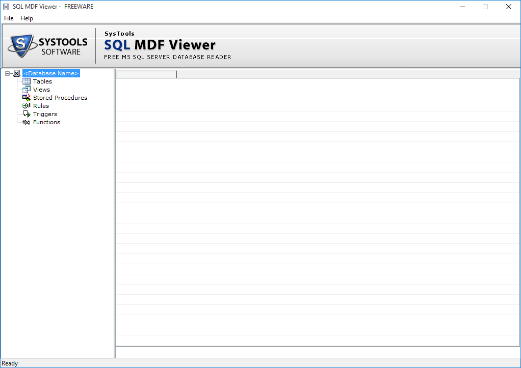 SysTools SQL MDF Viewer Screenshot 1