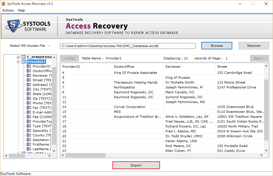 SysTools Access Recovery Screenshot 2