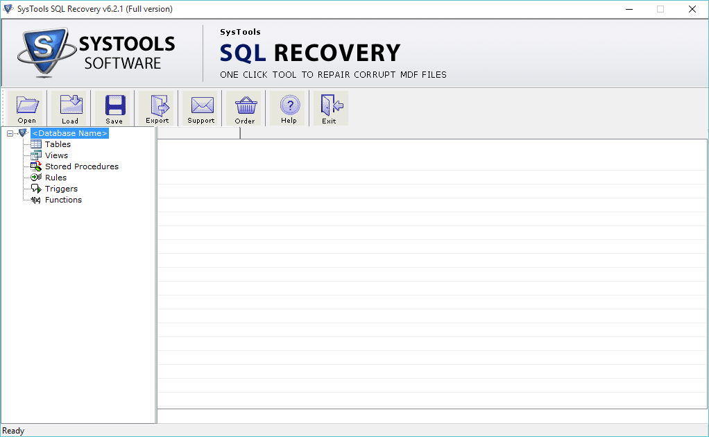 SysTools SQL Recovery Screenshot 1