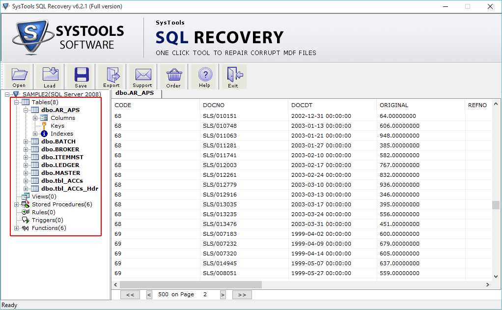 SysTools SQL Recovery Screenshot 3