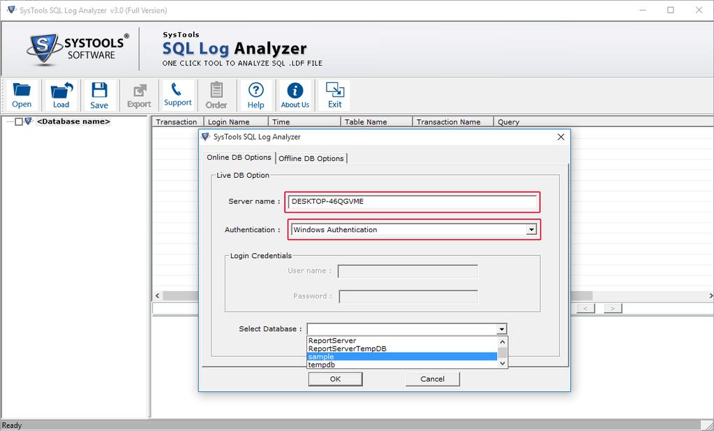 Download SysTools SQL Log Analyzer 3 0