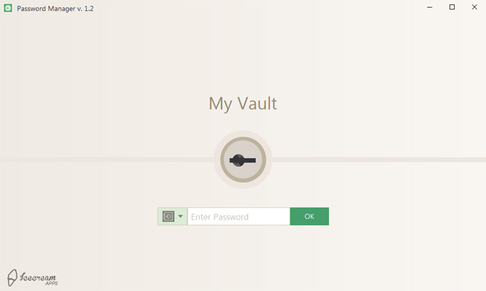 Icecream Password Manager Screenshot