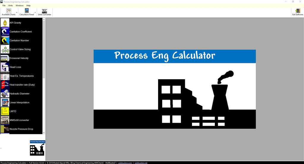 Process Engineering Calculator Screenshot 2