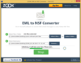 ZOOK EML to NSF Converter 2