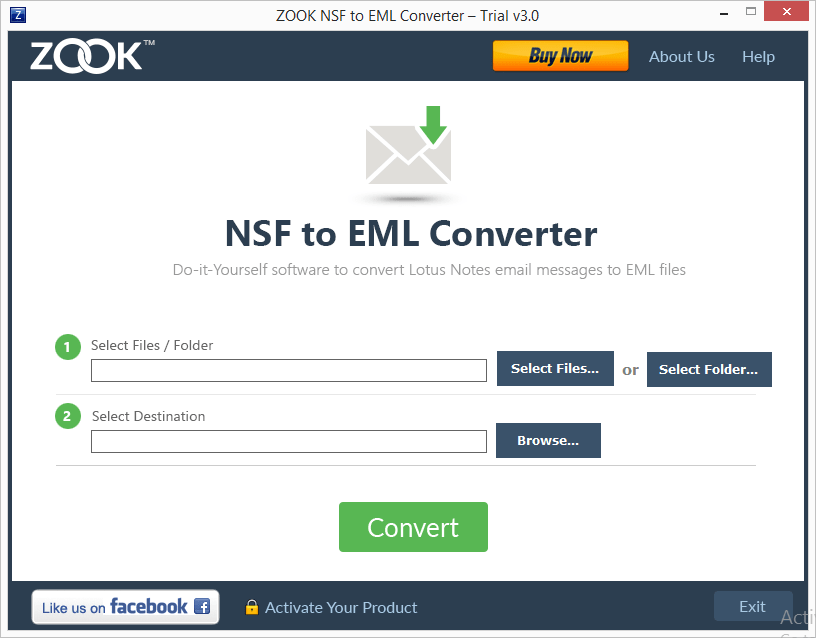 ZOOK NSF to EML Converter Screenshot