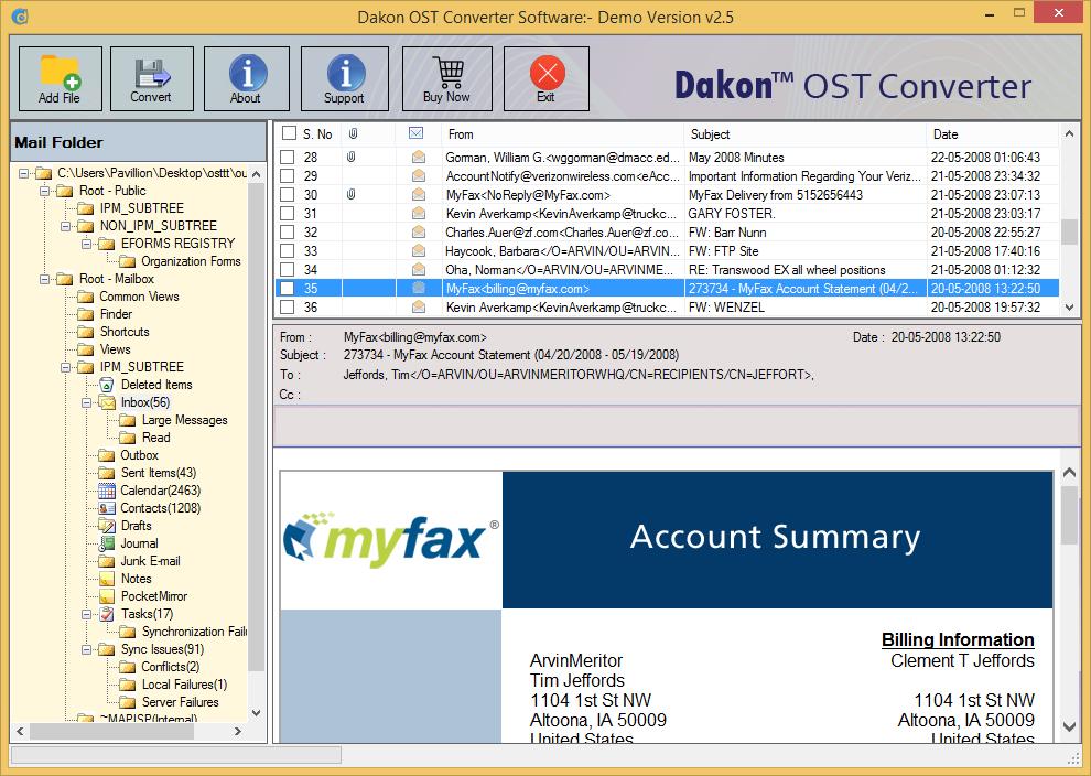 Dakon OST Converter Screenshot 2