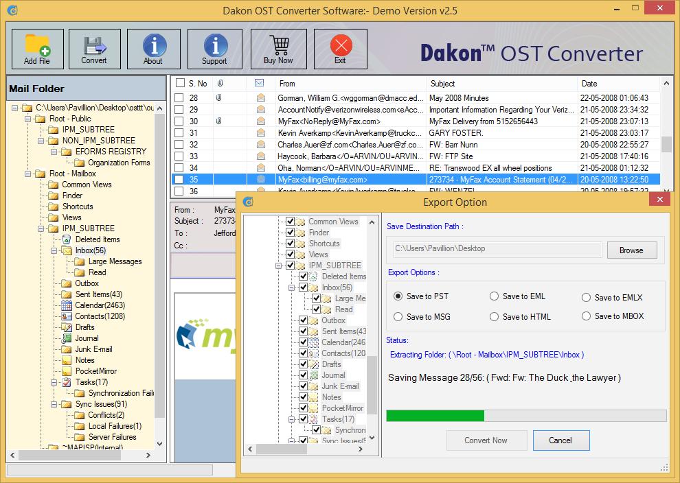 Dakon OST Converter Screenshot 3