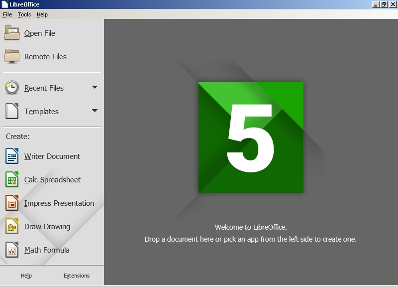 Portable LibreOffice (64-bit) Screenshot