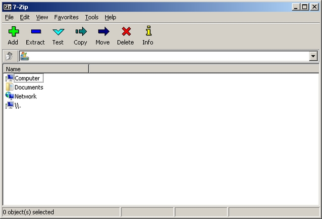 Portable 7-Zip (32-bit) Screenshot