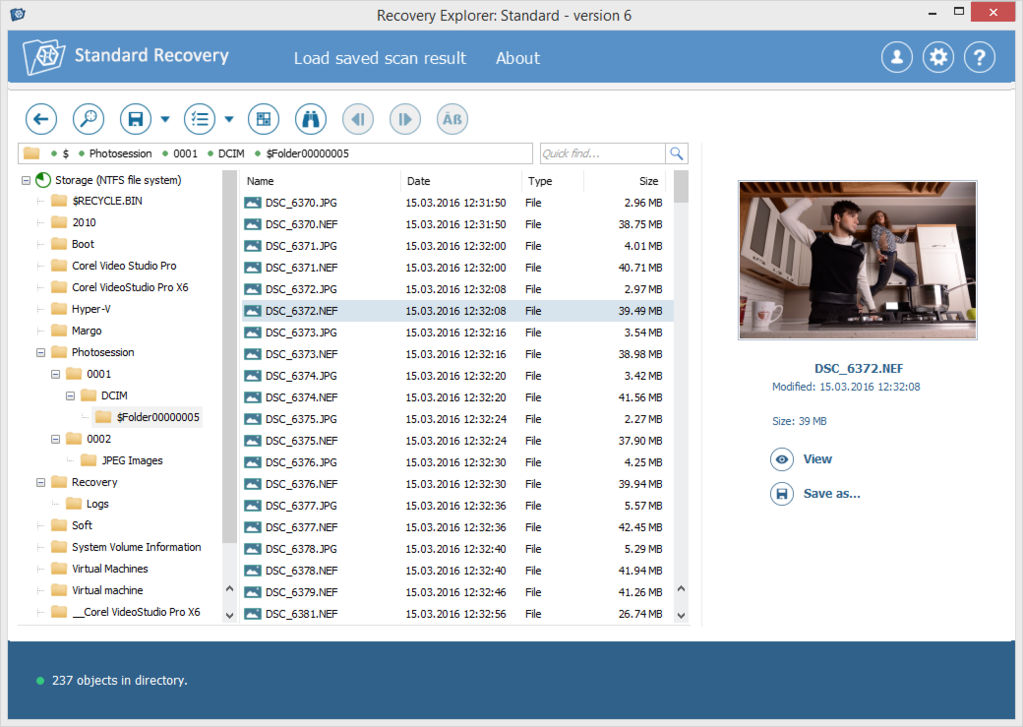 Recovery Explorer Standard - Windows Screenshot 4
