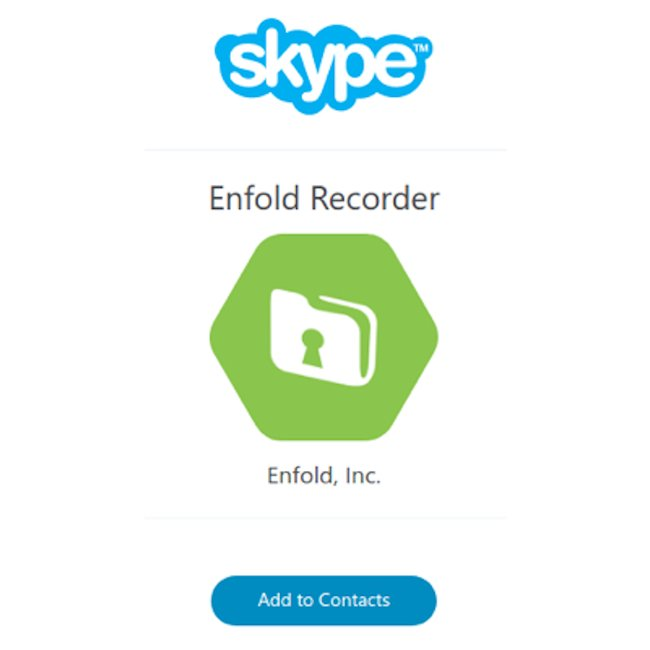 Enfold Skype Recorder Screenshot