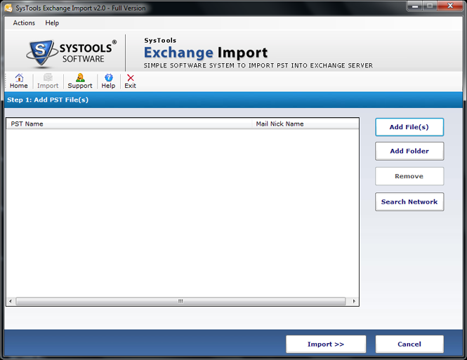 SysTools Exchange Import Screenshot 2