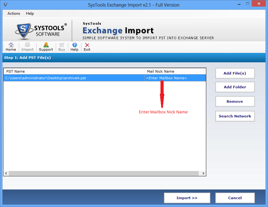 SysTools Exchange Import Screenshot 3