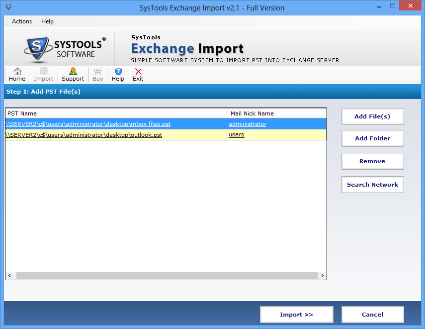 SysTools Exchange Import Screenshot 4