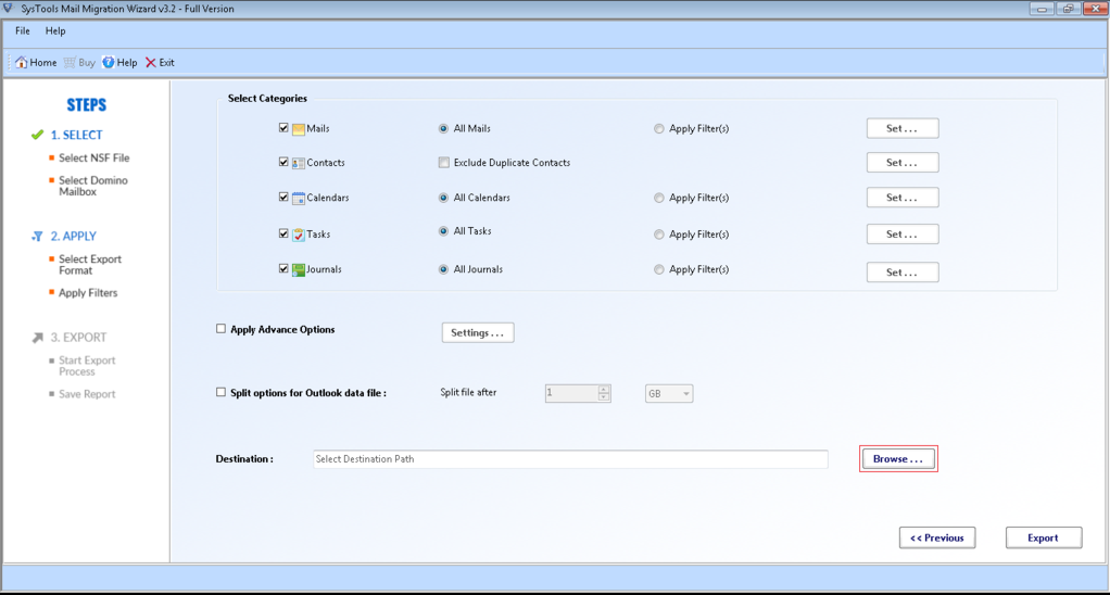 SysTools Mail Migration Wizard Screenshot 3