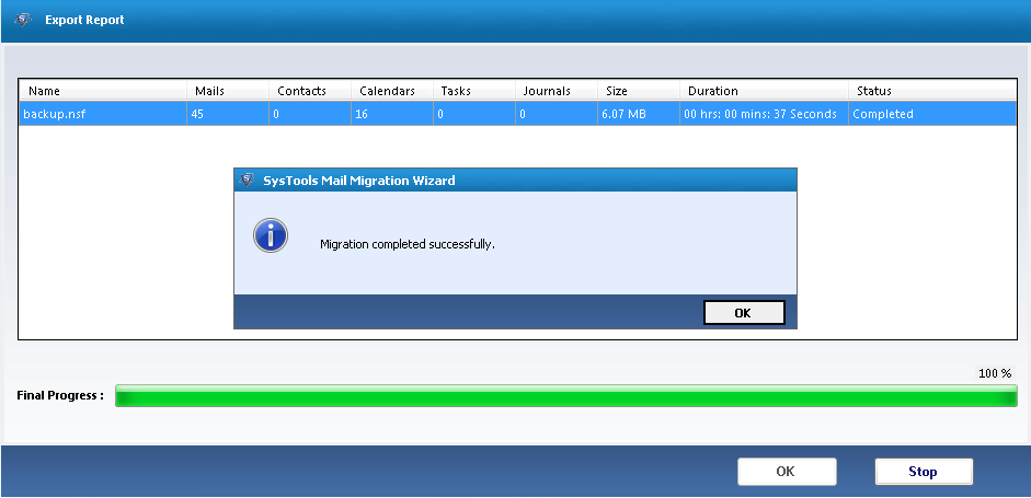 SysTools Mail Migration Wizard Screenshot 4
