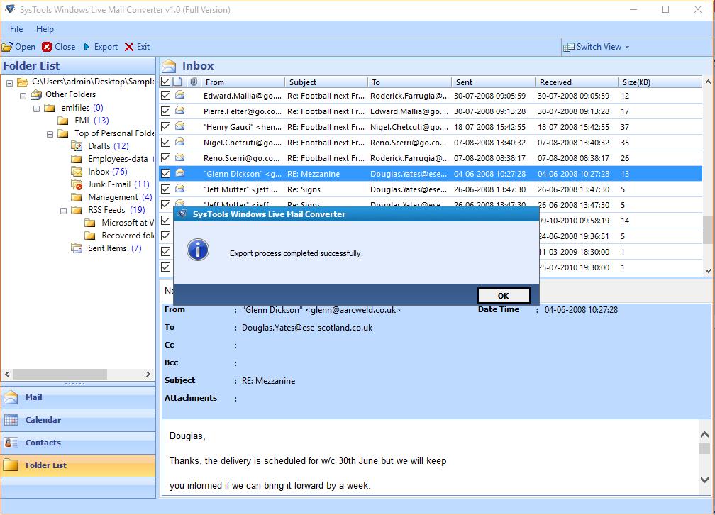 SysTools Windows Live Mail Converter Screenshot 4