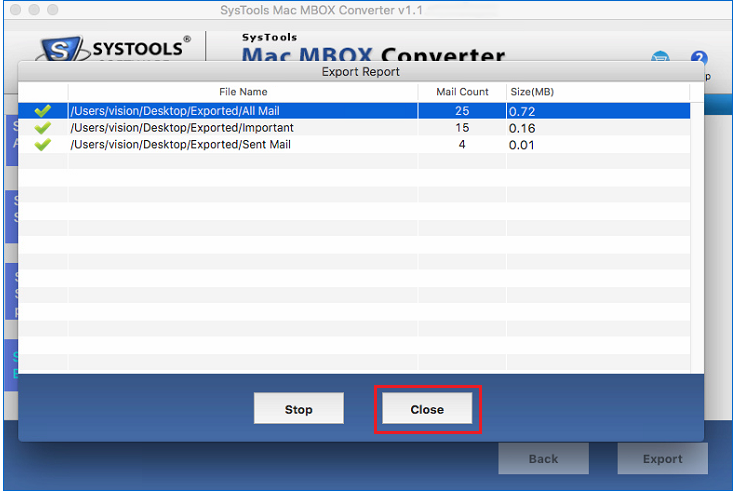 SysTools Mac MBOX to PST Converter Screenshot 4
