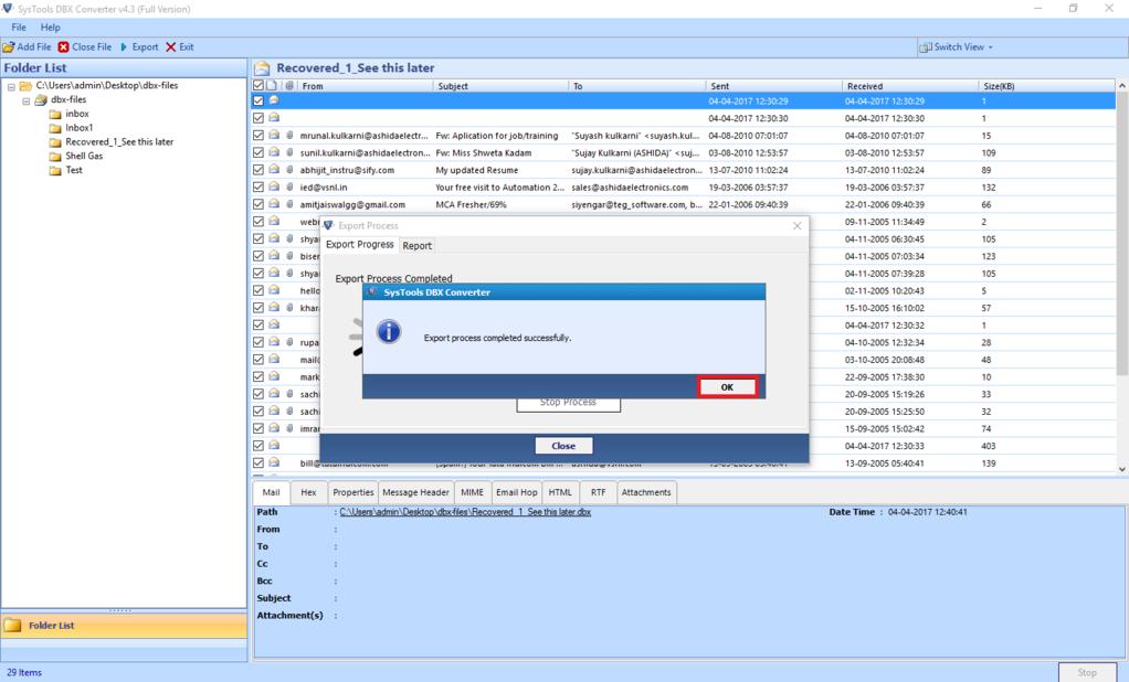 SysTools DBX Converter Screenshot 3