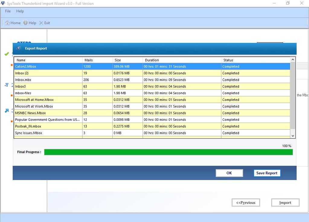 SysTools Thunderbird Import Wizard Screenshot 3