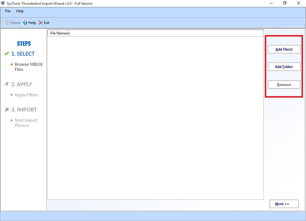 SysTools Thunderbird Import Wizard Screenshot 1