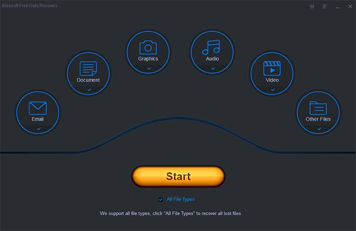 iBeesoft Free Data Recovery Screenshot