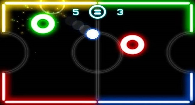 Glow Hockey Screenshot 1