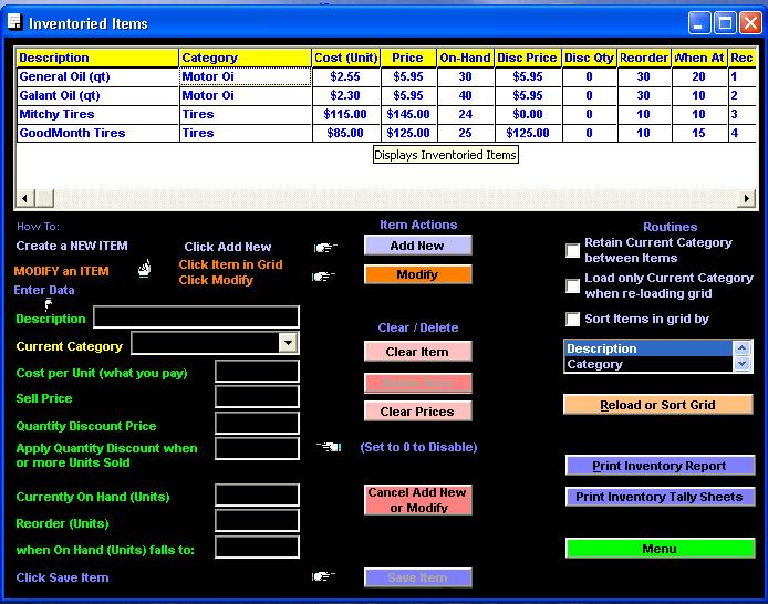 Citrus Inventory Screenshot