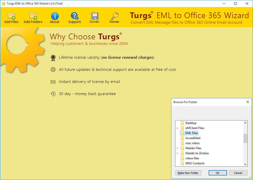 Download EML to Office 356 Wizard 2 0