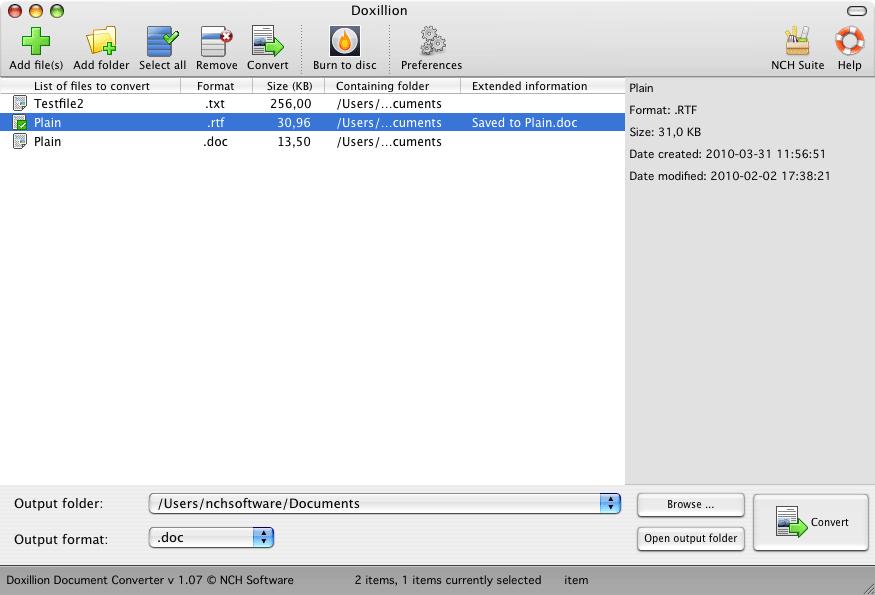 Doxillion Plus for Mac Screenshot