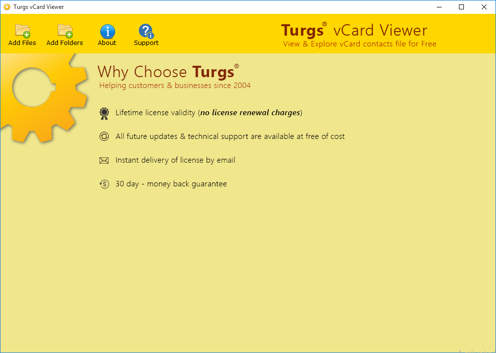 vCard Viewer Screenshot