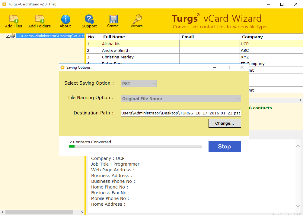 Download vCard Wizard 4 22