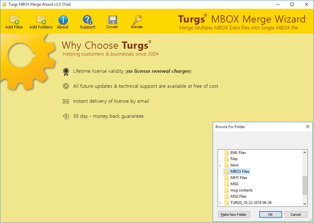MBOX Merge Wizard Screenshot