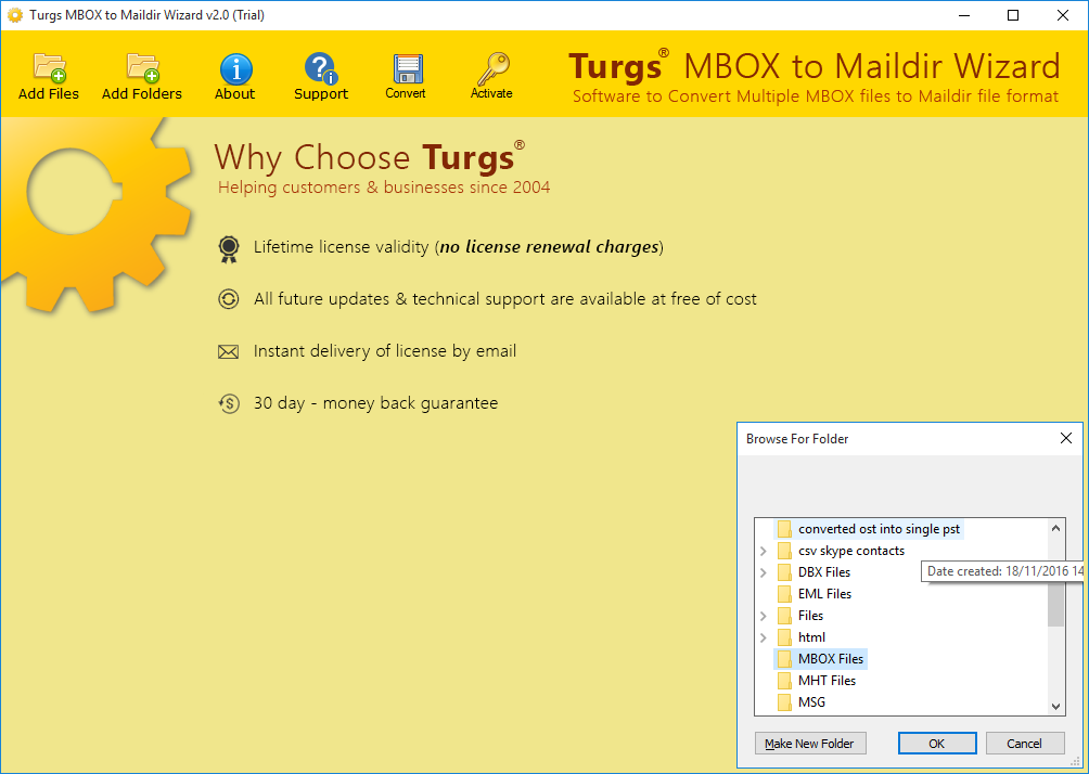 MBOX to Maildir Wizard Screenshot