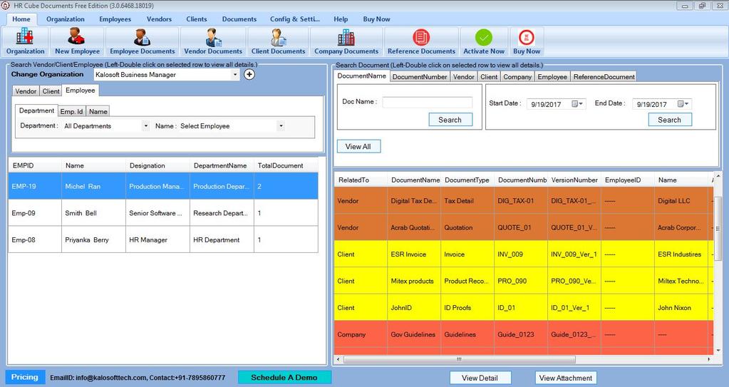 HR Cube Document Screenshot