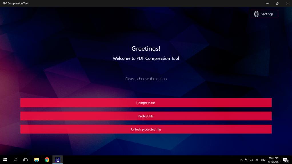 PDF Compression Tool Screenshot