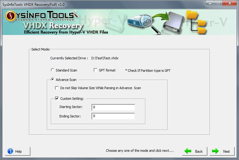 Download SysinfoTools VHDX Recovery Tool 3 02