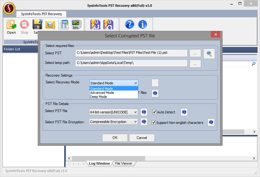 SysInfoTools Outlook Password Recovery Screenshot