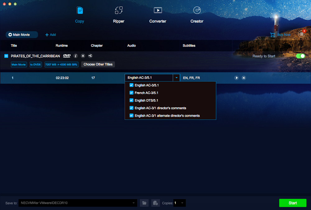 DVDFab DVD Copy and DVD Ripper Screenshot