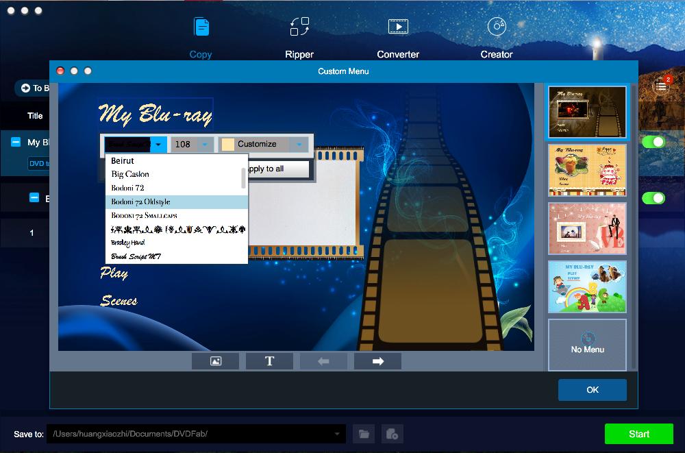 DVDFab DVD to Blu-ray Converter for Mac Screenshot