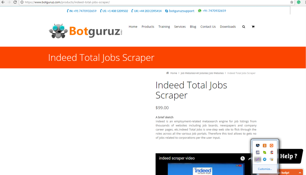 Indeed Total Jobs Scraper Screenshot