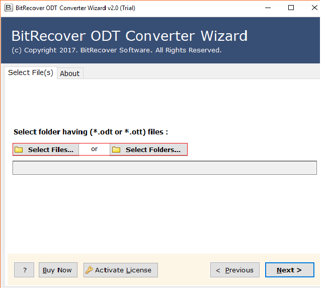 ODT Converter Wizard Screenshot