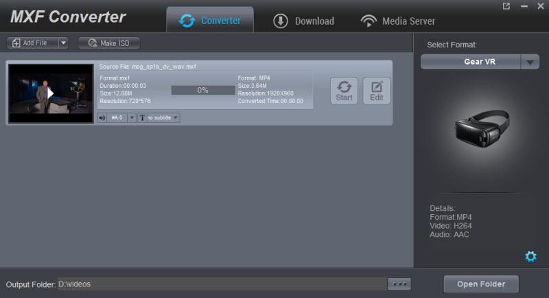 Download MXF Converter 4 1 0