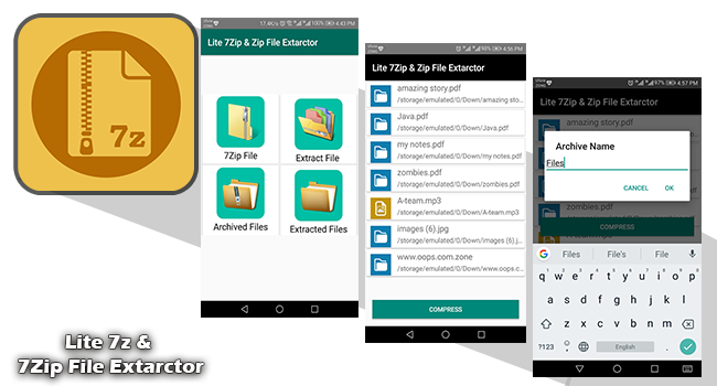 Download Lite 7z & 7Zip File Extarctor 1 0 for Android